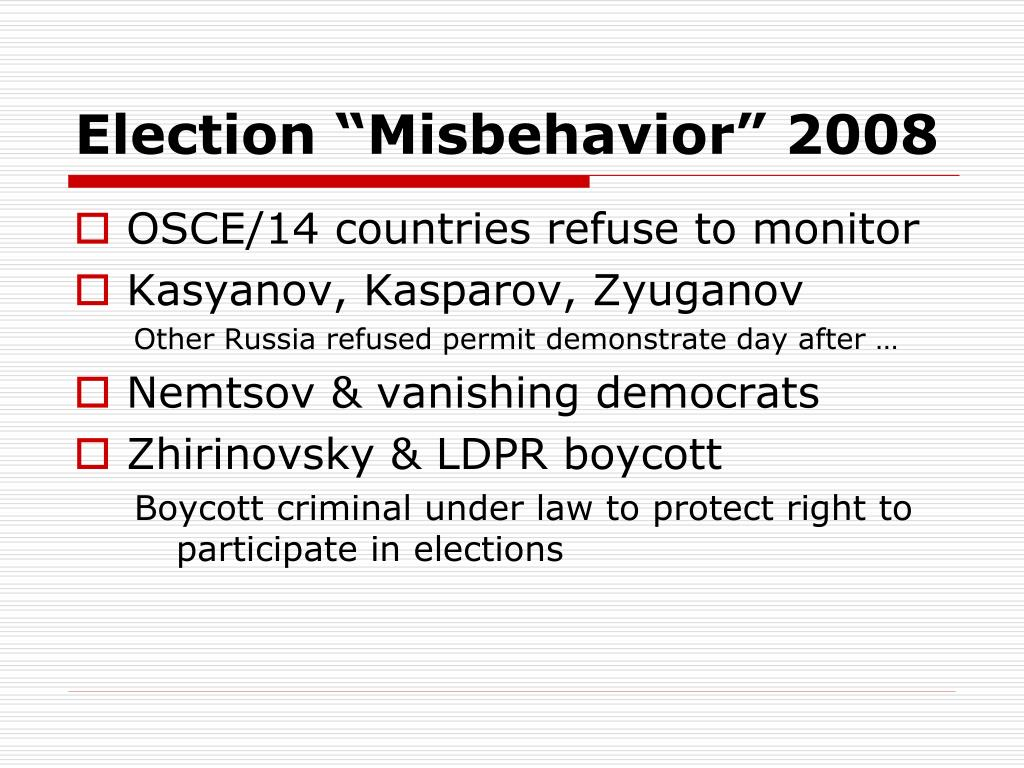"Election ""Misbehavior"" 2008"