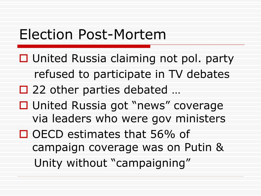 Election Post-Mortem