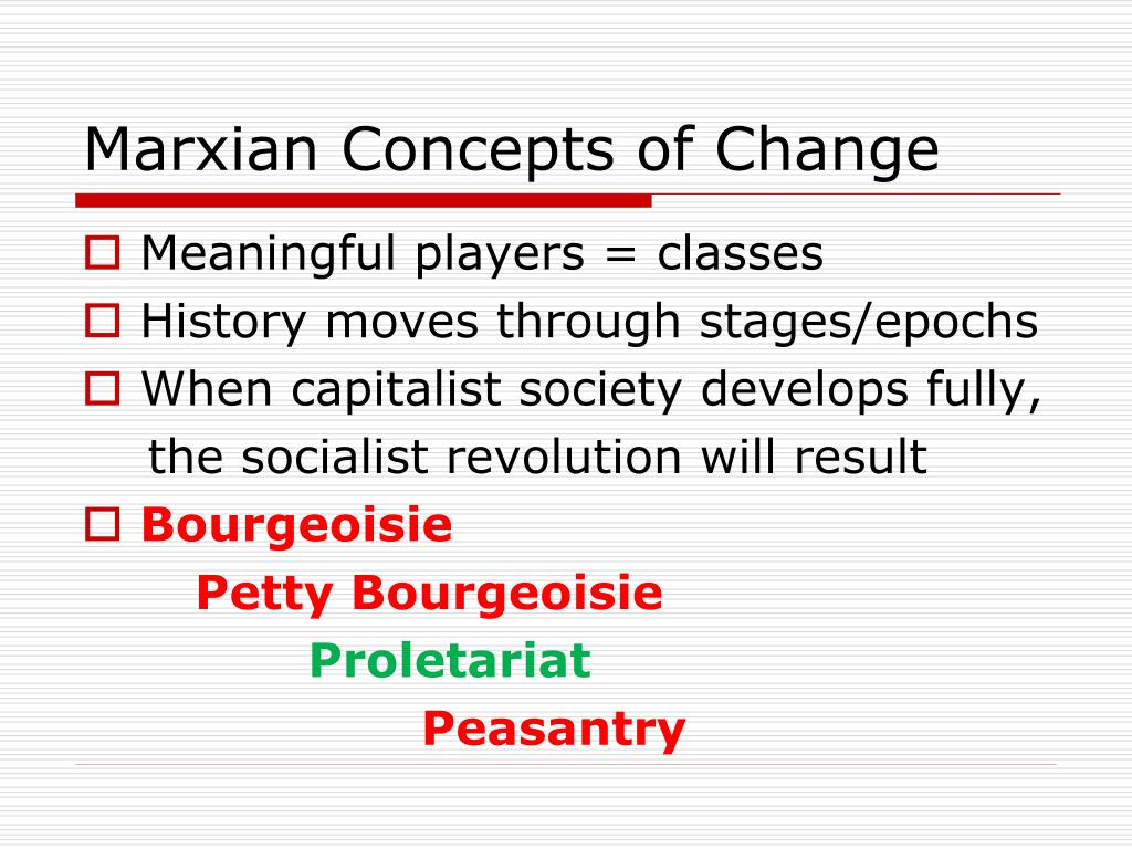 Marxian Concepts of Change