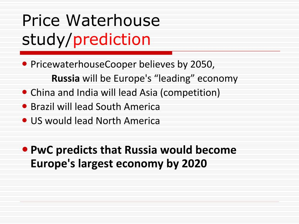 Price Waterhouse study/