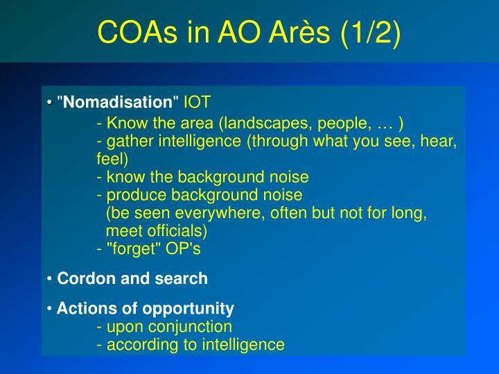 COAs in AO Arès (1/2)