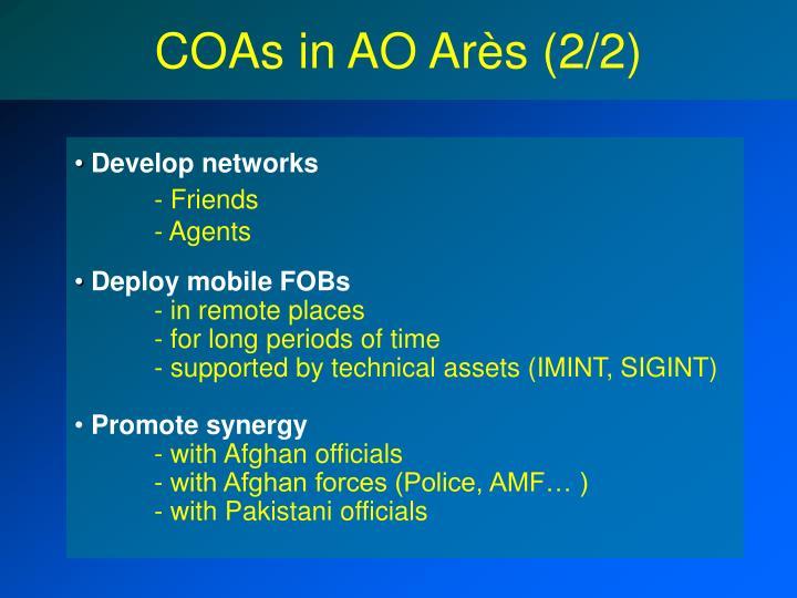 COAs in AO Arès (2/2)