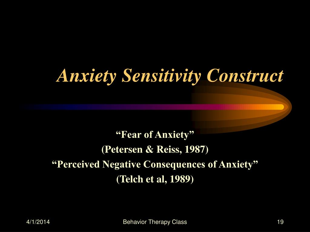 Anxiety Sensitivity Construct