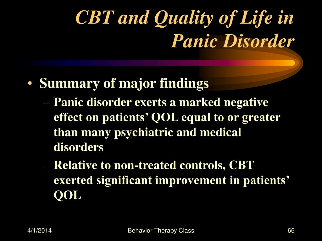 CBT and Quality of Life in Panic Disorder