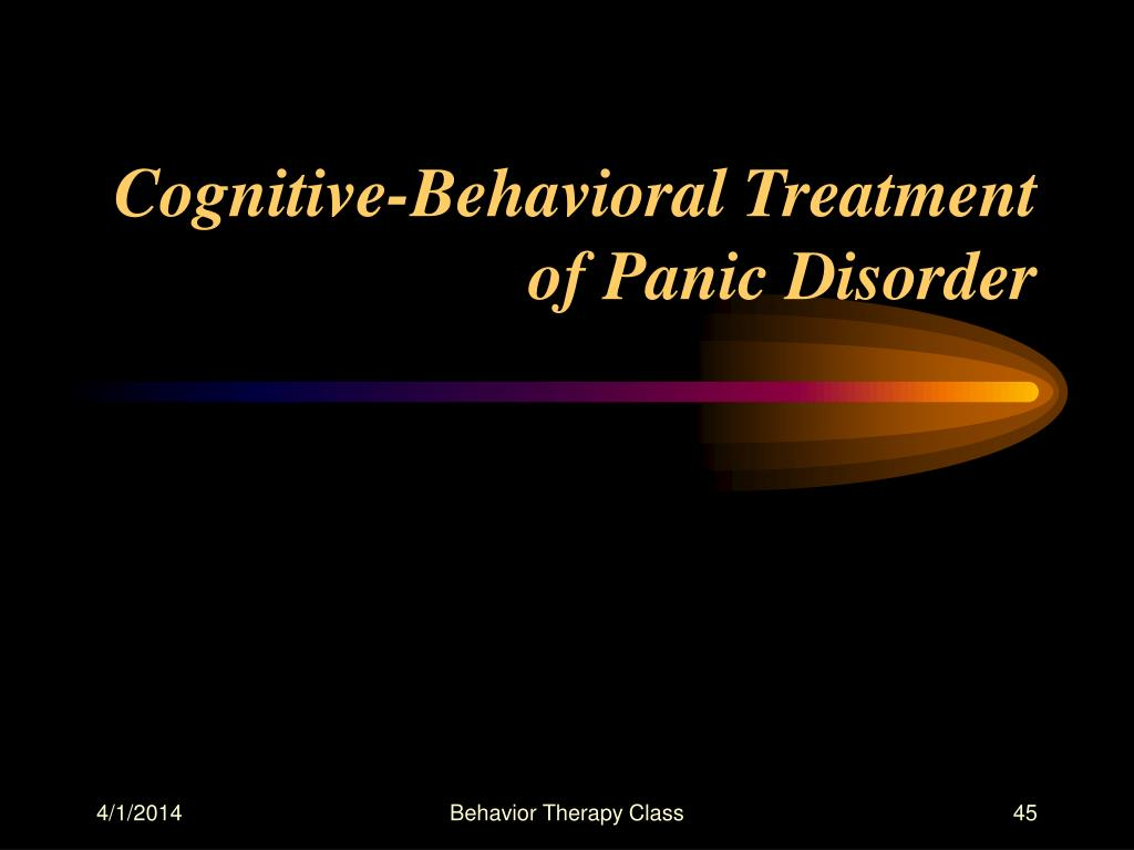 Cognitive-Behavioral Treatment of Panic Disorder