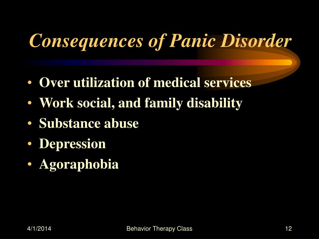 Consequences of Panic Disorder