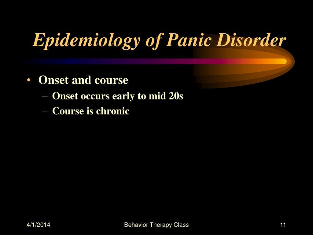 Epidemiology of Panic Disorder