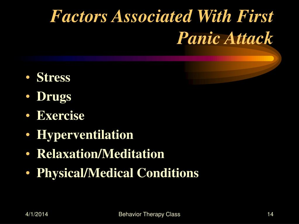 Factors Associated With First Panic Attack