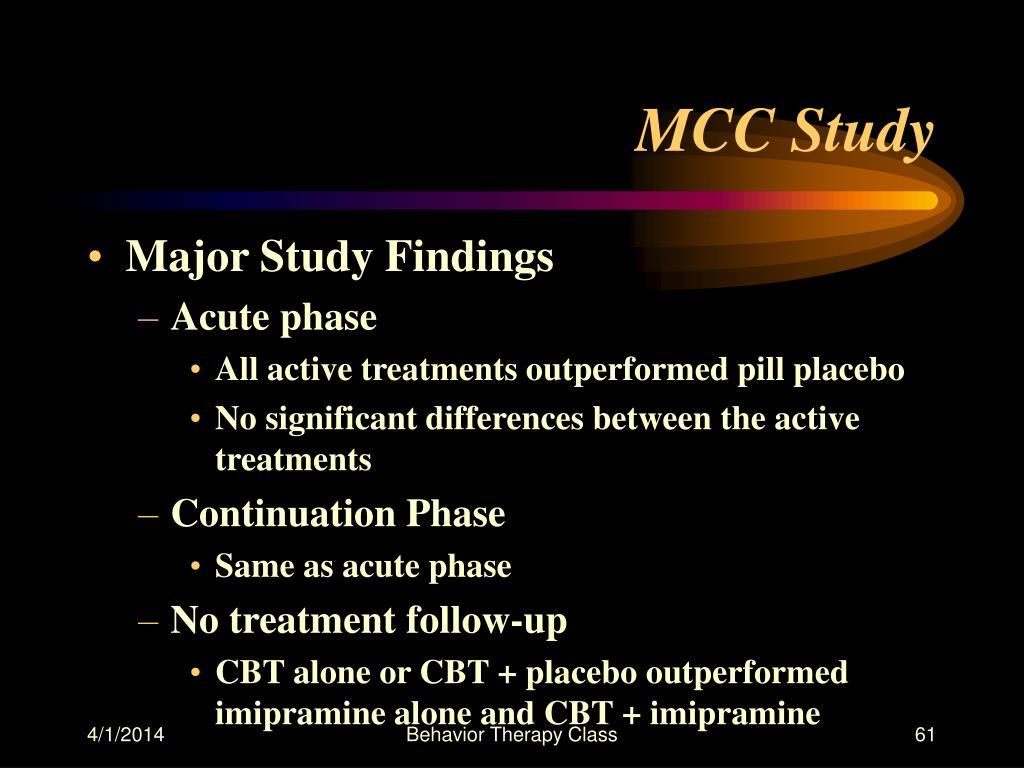 MCC Study