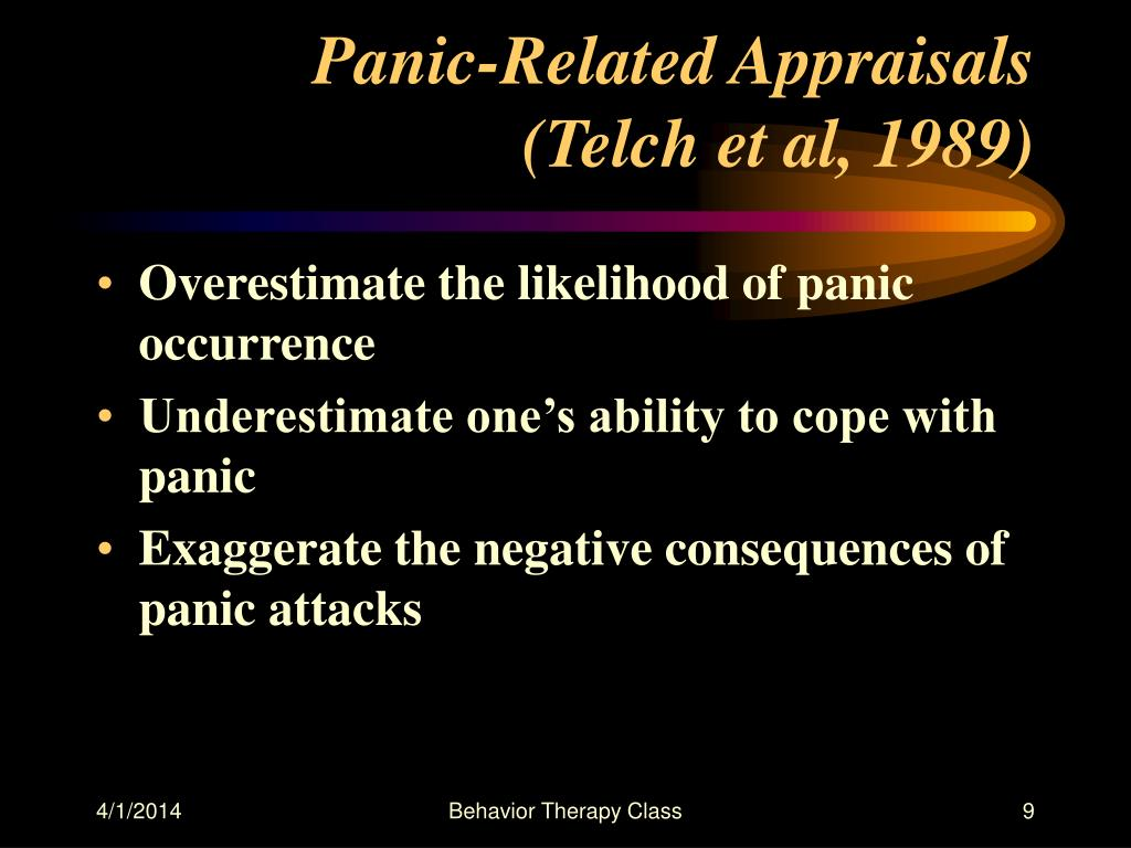 Panic-Related Appraisals