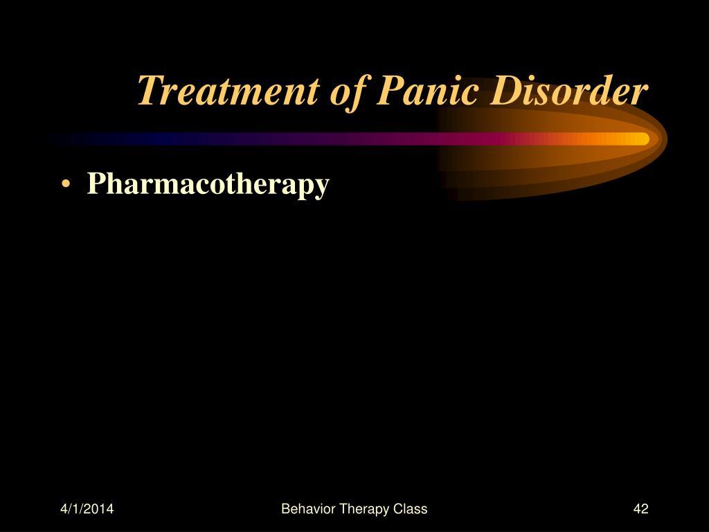 Treatment of Panic Disorder