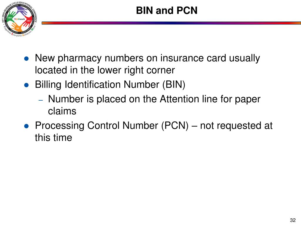 BIN and PCN