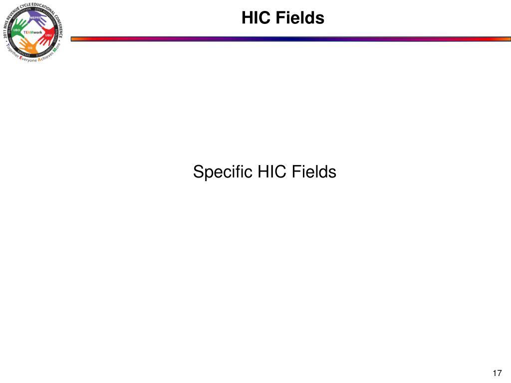 HIC Fields