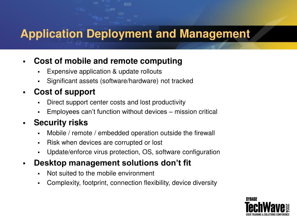 Application Deployment and Management