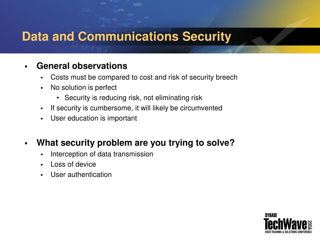 Data and Communications Security