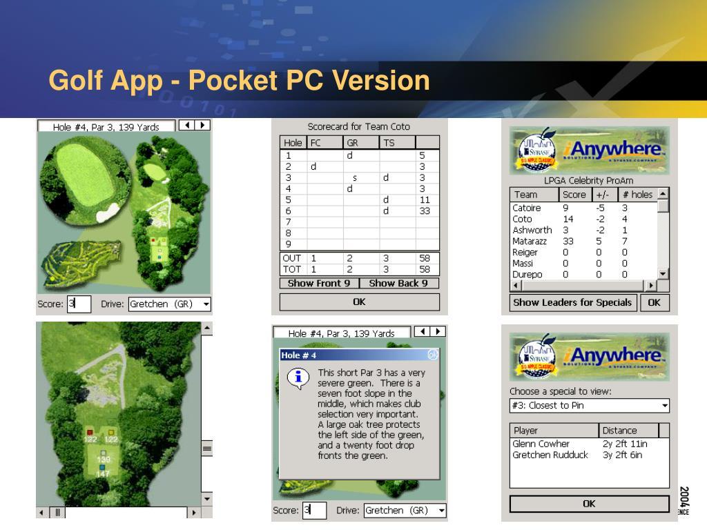 Golf App - Pocket PC Version