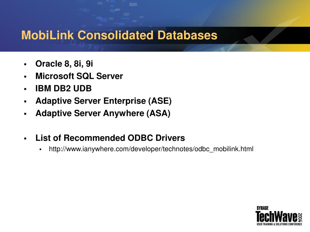MobiLink Consolidated Databases