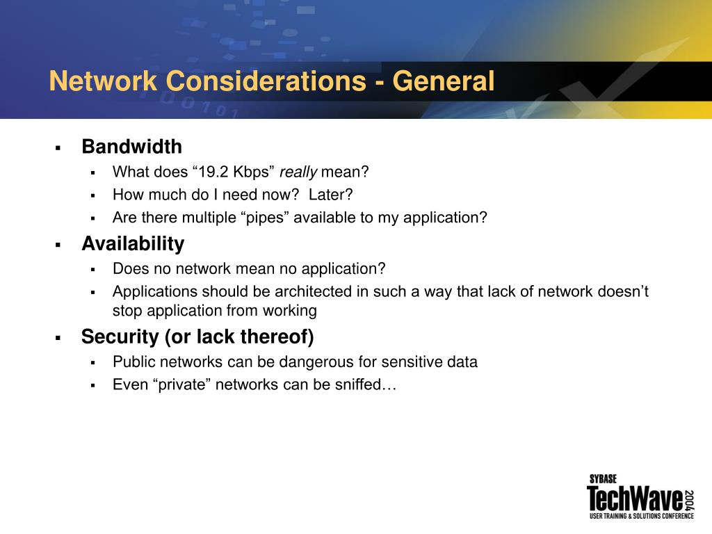 Network Considerations - General