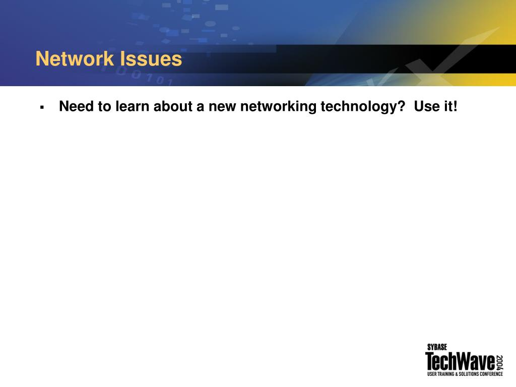 Network Issues
