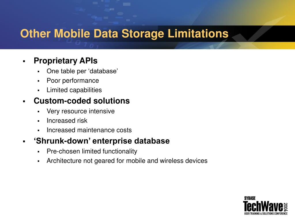 Other Mobile Data Storage Limitations