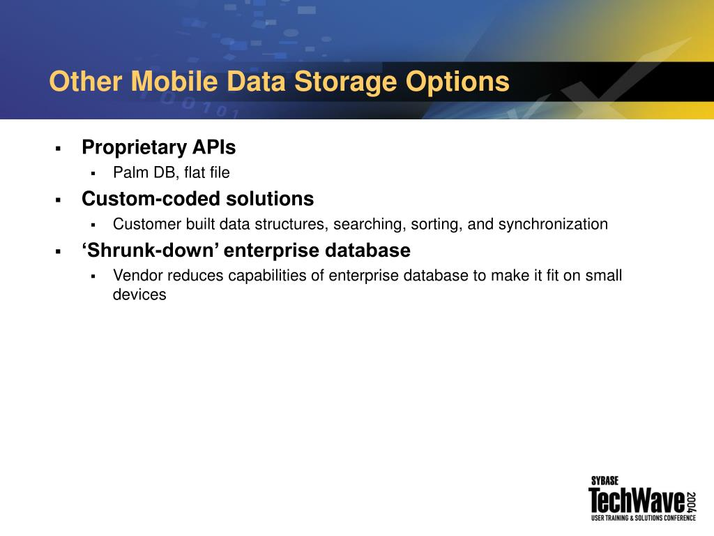 Other Mobile Data Storage Options