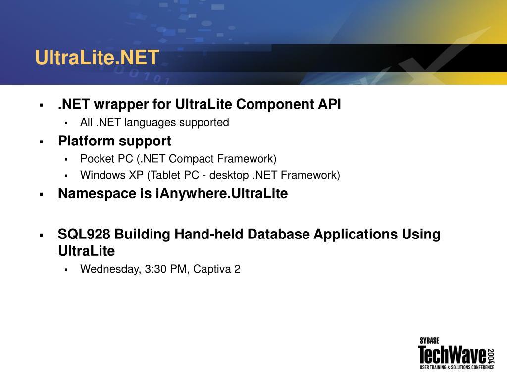 UltraLite.NET