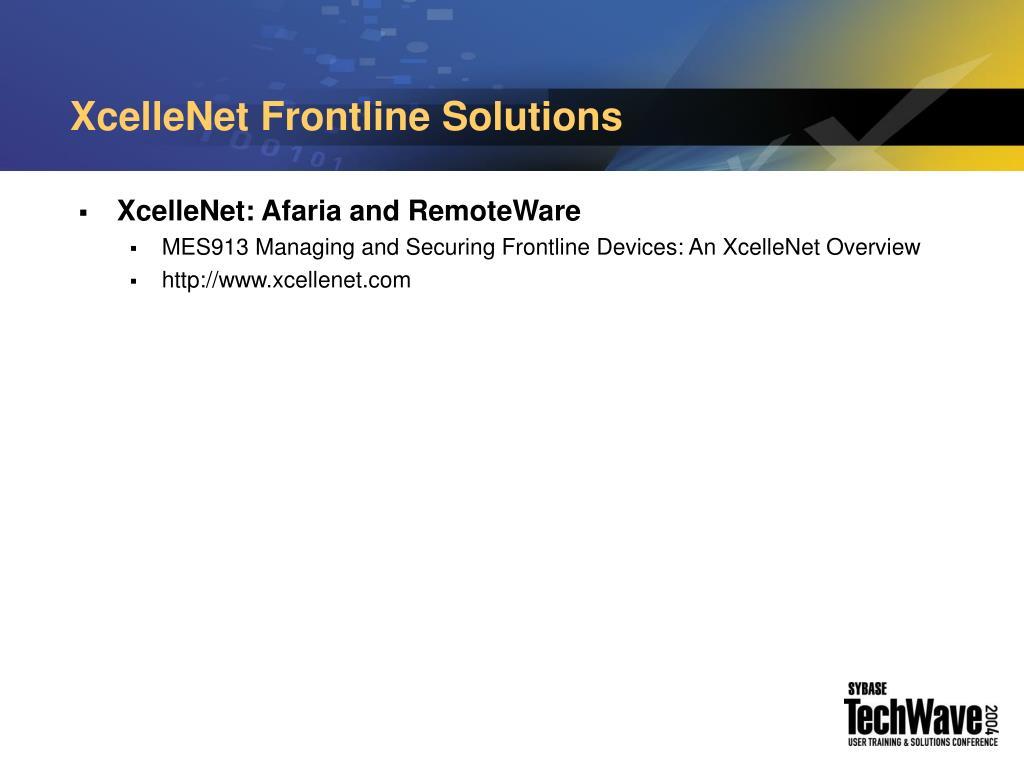 XcelleNet Frontline Solutions
