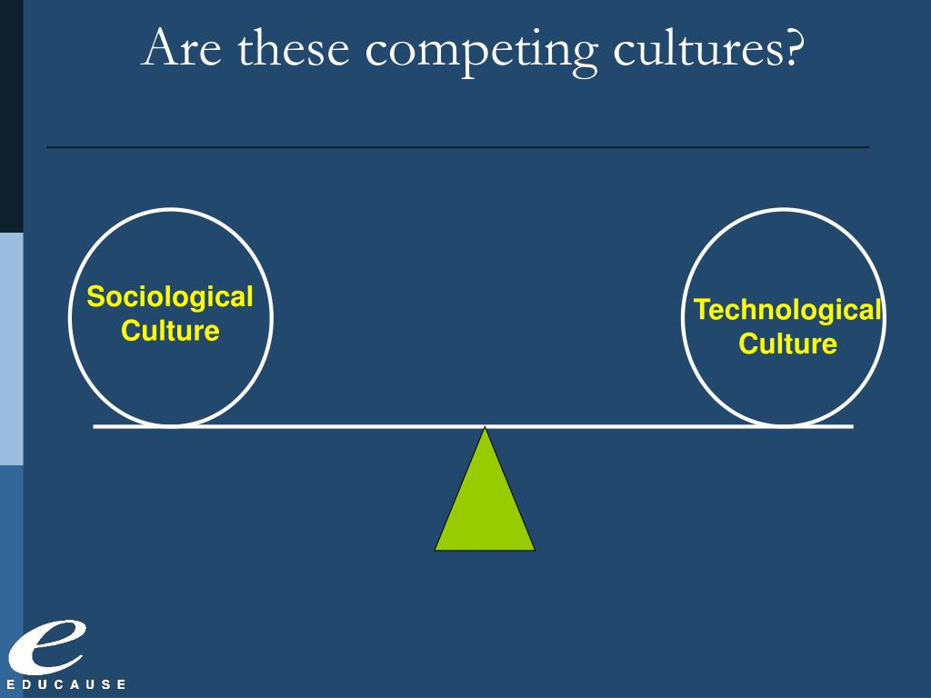Are these competing cultures?