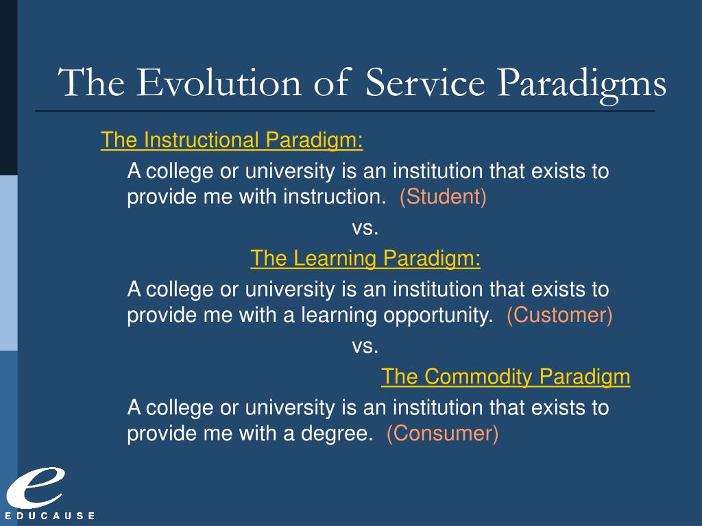 The Evolution of Service Paradigms