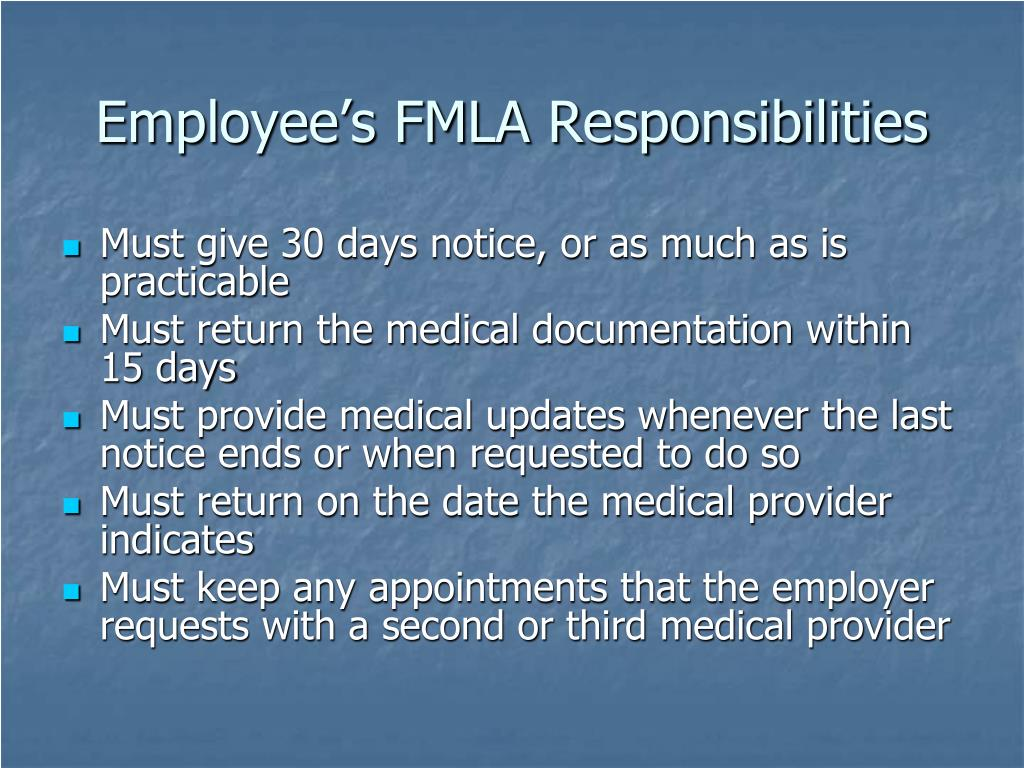 Employee's FMLA Responsibilities