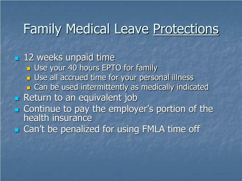 Family Medical Leave