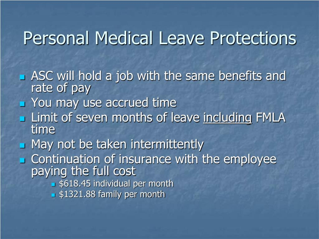 Personal Medical Leave Protections