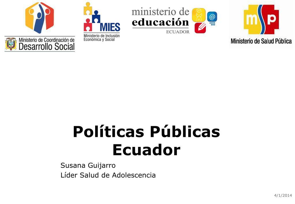 Políticas Públicas Ecuador