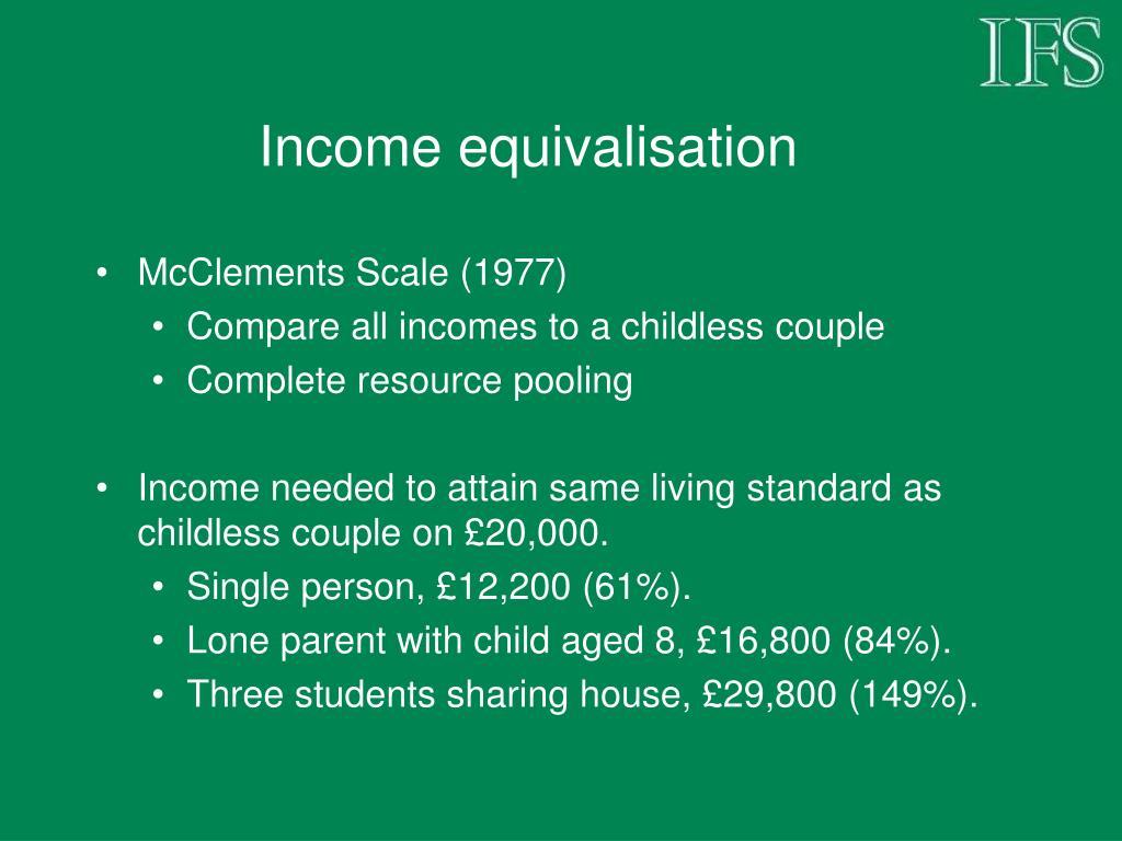 Income equivalisation