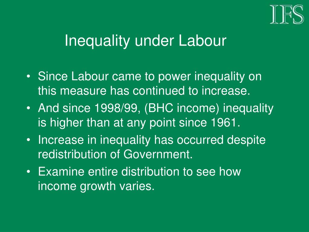 Inequality under Labour