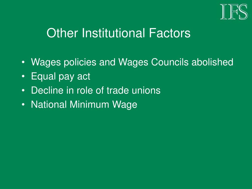 Other Institutional Factors