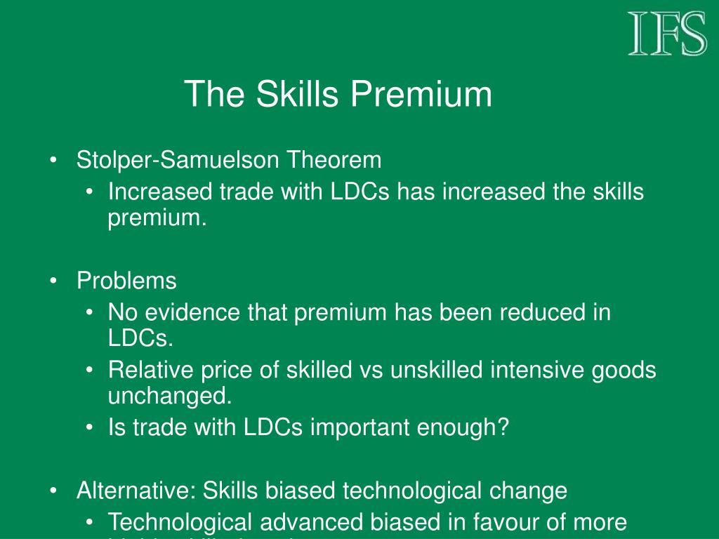 The Skills Premium