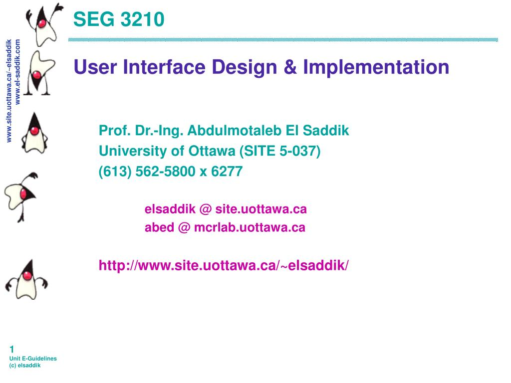 seg 3210 user interface design implementation l.