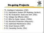 on going projects