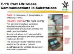 t 11 part i wireless communications in substations