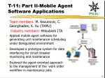t 11 part ii mobile agent software applications
