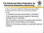t 9 enhanced state estimation by advanced substation monitoring