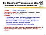 t4 electrical transmission line insulator flashover predictor