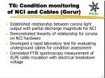 t6 condition monitoring of nci and cables gorur