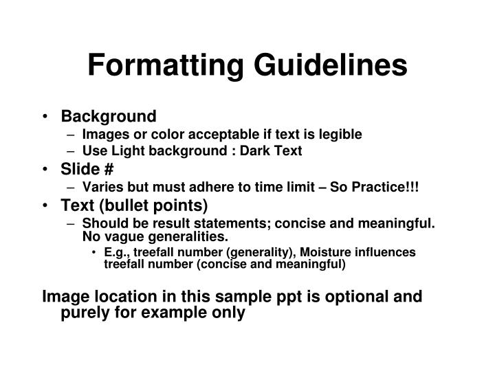Formatting guidelines2