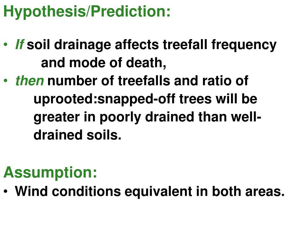 Hypothesis/Prediction: