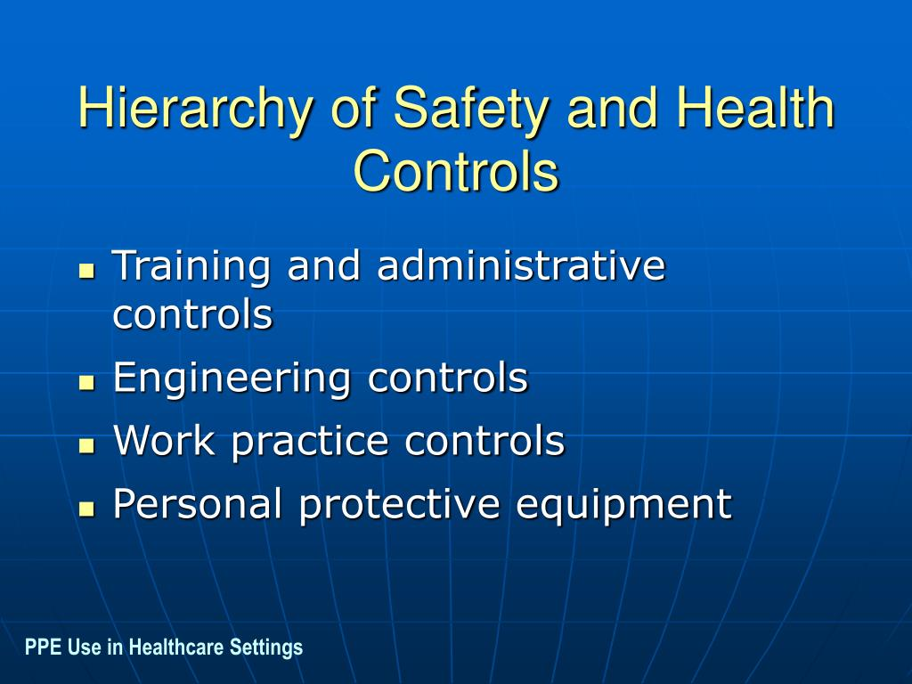 Hierarchy of Safety and Health Controls