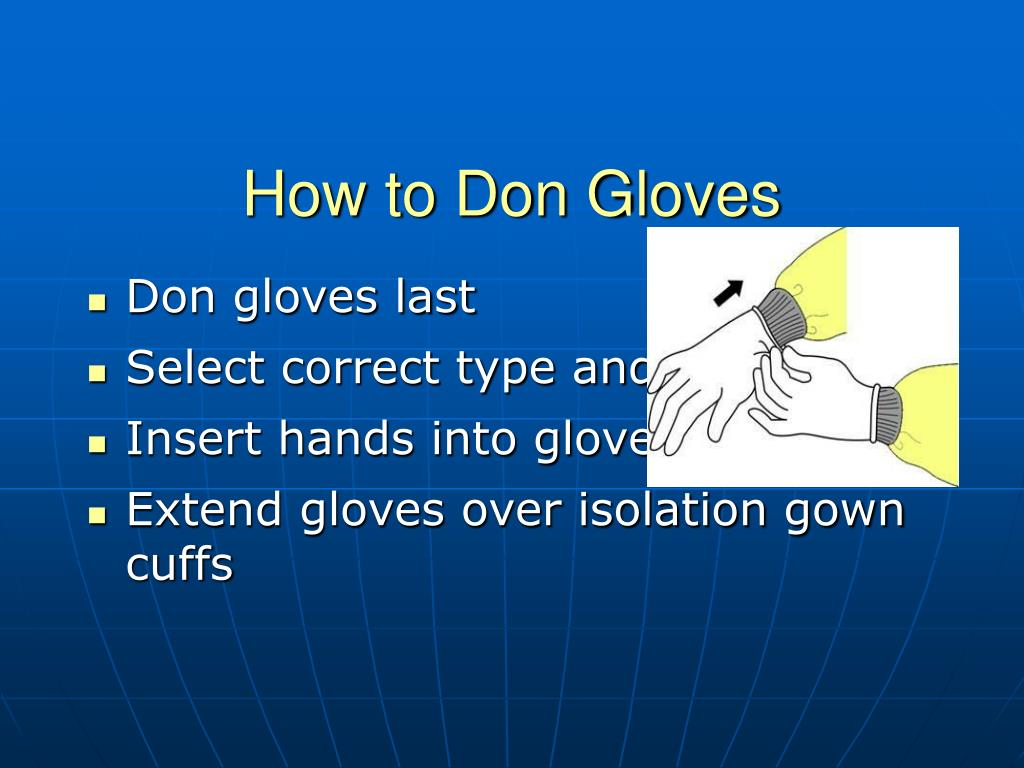 How to Don Gloves