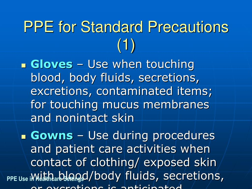 PPE for Standard Precautions (1)