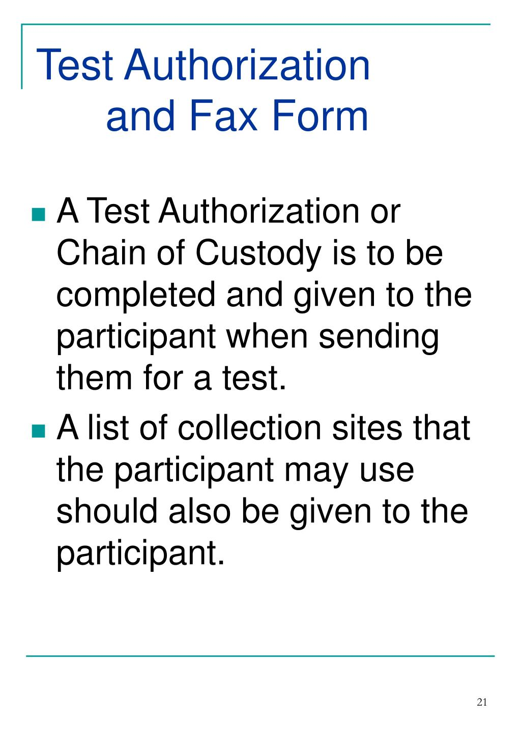 Test Authorization